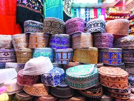 Chapeaux traditionnels, souk de Muttrah, Mascate - Oman
