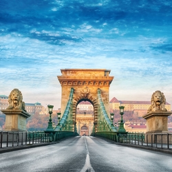 Pont de Chaînes, Budapest, Hongrie
