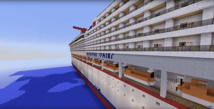 Quand les joueurs de Minecraft reproduisent des navires de croisière
