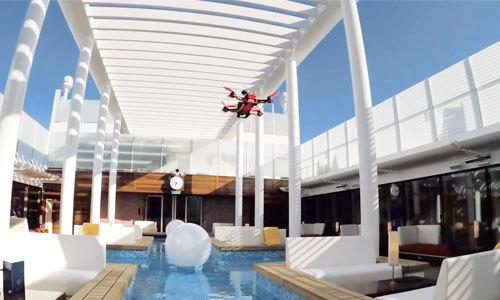 Drones et vidéos à 360 degrés pour explorer les navires de croisière