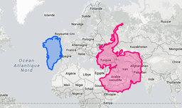 La véritable taille des pays que vous découvrirez en croisière