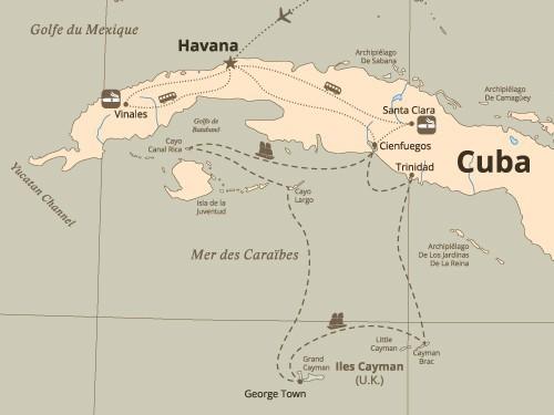 Itinéraire de Le Havane en croisière