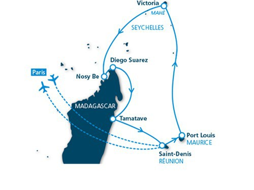 Itinéraire de Merveilles de l'Océan Indien