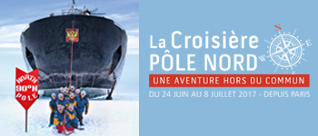 Du 24 juin au 8 juillet 2017, partez pour une expédition unique vers l'un des points les plus mythiques du globe : le Pôle Nord.