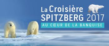 Partez en expédition au Spitzberg du 15 au 27 août 2017, au plus près de la banquise et des animaux polaires : ours, phoques, morses, baleines...
