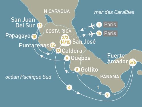 Itinéraire de Costa Rica