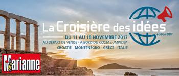 L'édition 2017 de la Croisière des Idées se déroulera en novembre prochain. Au programme des conférences de Laurent Joffrin,  JF Kahn, Roland Cayrol...