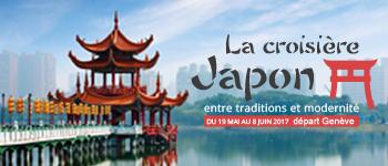 Depuis Genève, partez pour une croisière au Japon en compagnie de spécialistes de la région pour découvrir une culture et les traditions du pays.