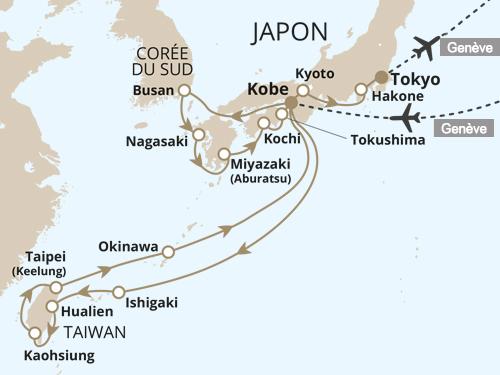 Itinéraire de Japon, entre traditions et modernité - départ Genève