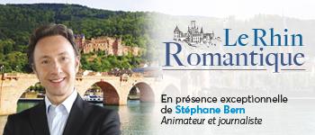 En partenariat avec TV8 et au départ de Strasbourg, partez pour une croisière fluviale sur le Rhin avec l'animateur Stéphane Bern.