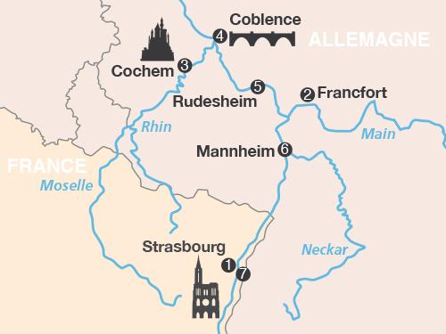 Itinéraire de Le Rhin romantique - Suisse