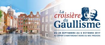 Partez pour une croisière hommage à deux grandes figures nationales : Charles de Gaulle et Jacques Chirac. Départ en septembre 2017 depuis Amsterdam.