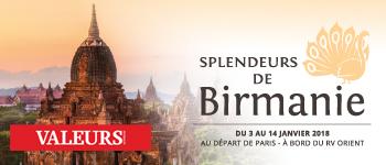 Au départ de Paris, partez pour une incroyable croisière en Birmanie. Au programme, conférences sur la destination et accompagnement francophone.