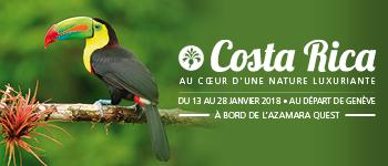 Au départ de Genève, partez en compagnie de 2 conférenciers francophones à la découverte du Costa Rica et ses multiples trésors naturels.