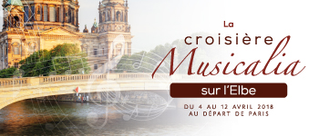 Embarquez avec un plateau de grands musiciens et appréciez leurs talents lors de concerts au cours de la Musicalia 2018 sur l'Elbe.