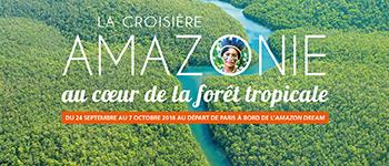 Embarquez pour une croisière insolite, au milieu de la forêt Amazonienne pour découvrir des paysages, une faune et une flore inexplorée et foisonnante
