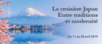 En 2019 et depuis Paris, partez pour une croisière événement au Japon en compagnie d'intervenants francophones et sur un itinéraire exceptionnel.