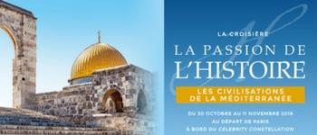 Un voyage en Italie, Grèce et Israël en compagnie de spécialistes qui vous parleront de l'histoire de ces magnifiques pays (départ de Paris).
