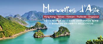 Partez pour un voyage unique vers les plus belles destinations du continent asiatique à bord d'un navire de la compagnie Celebrity.