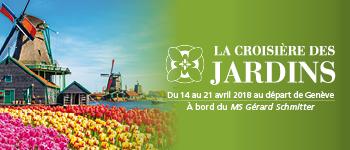 Une croisière en Hollande à la période de la floraison des tulipes et sur le Rhin en compagnie de Alain Baraton, le jardinier de Versailles.