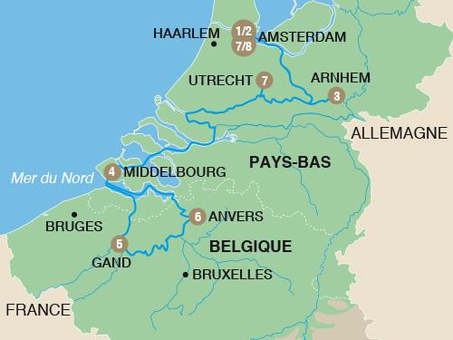Itinéraire de Croisière des jardins (Départ Genève)
