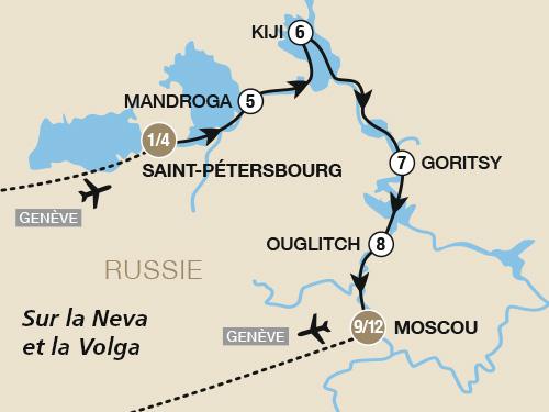 Itinéraire de Russie (Départ Genève)