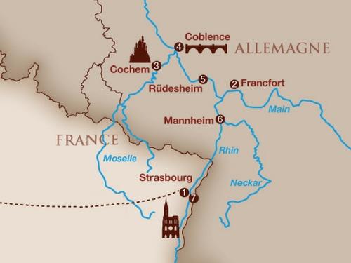 Itinéraire de Musicalia - Sur le Rhin (Suisse)