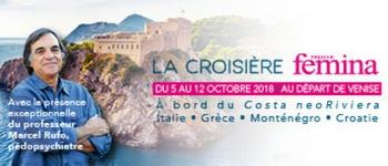 Une croisière en mer Adriatique en partenariat avec votre magazine Version Femina (départ de Venise en octobre 2018)