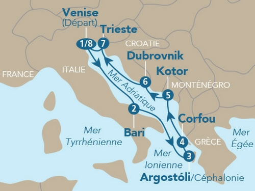 Itinéraire de Croisière Version Femina (2018)