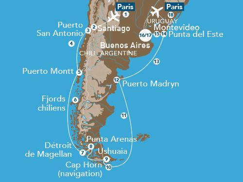 Itinéraire de Patagonie & Terre de Feu avec Europe 1