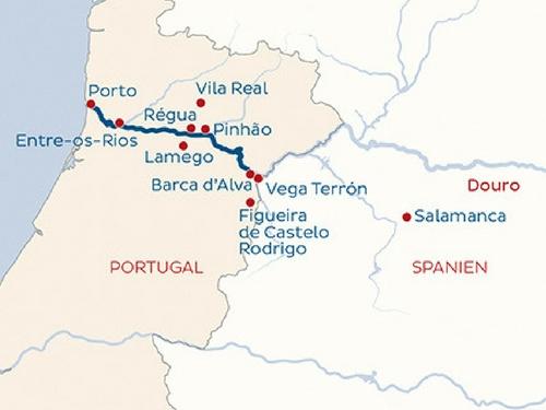 Itinéraire de Musicalia sur le Douro (Départ Genève)
