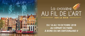 Découvrez la nouvelle édition de notre croisière Au fil de l'art sur le Rhin. Des vacances passionnantes sur le célèbre fleuve.