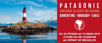 Vivez une expérience extraordinaire en partant pour la Patagonie au cours d'une croisière riche en événements et conférences.