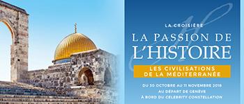 Partez sur les traces des grandes civilisations de méditerranée et découvrez Athènes, Rome, Bethléem, Jérusalem, Nazareth...