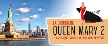 Croisiéristes suisses, partez pour une croisière transatlantique sur le mythique Queen Mary 2 de la compagnie Cunard. Départ depuis Genève.
