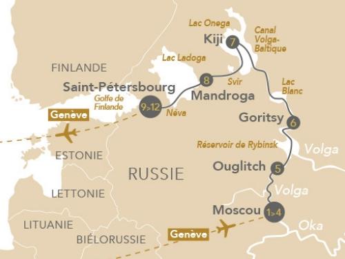 Itinéraire de Russie éternelle au départ de Genève