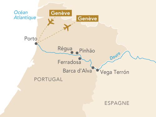 Itinéraire de Musicalia sur le Douro (Départ Genève 2019)
