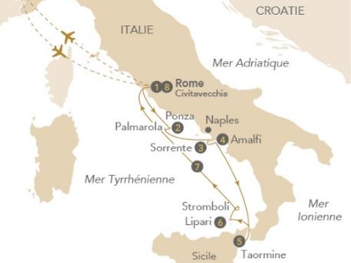 Itinéraire de Italie éternelle avec Franck Ferrand (départ Genève)