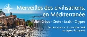 Un riche programme de conférences, des escales et excursions sur de prestigieux lieux historiques, un accompagnement depuis le premier au dernier jour… bienvenue sur la Croisière Merveilles des Civilisations en Méditerranée (Édition 2019)