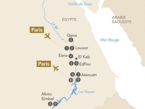 Itinéraire de Splendeurs d'Égypte