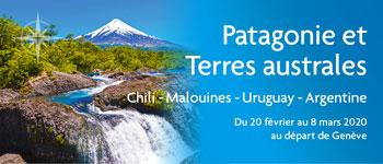 Au départ de Genève, partez pour la Patagonie. Cap Horn, glaciers, Pacifique, faune surprenante… la Nature est reine en Patagonie. Et si c'était votre prochaine croisière ?