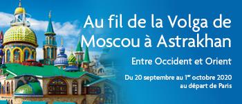 Embarquez pour la Russie Au fil de la Volga, de Moscou à Astrakhan et profitez de conférences passionnantes. Au départ de Paris