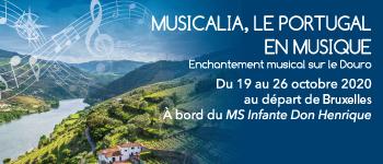 Une croisière inoubliable d'émotions et d'expressions musicales au cœur du Portugal et de la vallée du Douro avec Jean-François Zygel. Départ Bruxelles