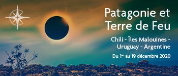 Profitez d'une vue imprenable depuis le pont de votre navire pour assister à l'éclipse solaire de 2020 et découvrez les beautés de la Patagonie. Départ Suisse
