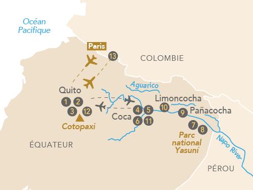 Itinéraire de Amazonie, au cœur de la forêt tropicale