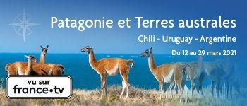 Découvrez la Patagonie et les terres australes, en croisière avec Yves Coppens, professeur émérite au Collège de France, une croisière qui s'annonce captivante