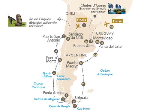 Itinéraire de Patagonie et Terres australes, avec Yves Coppens