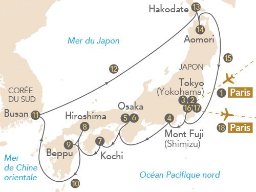 Itinéraire de Japon, archipel aux milles traditions