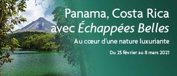 Envie de partir au Panama et au Costa Rica en croisière ?  Découvrez notre croisière au cœur d'une nature luxuriante en partenariat avec Échappées Belles