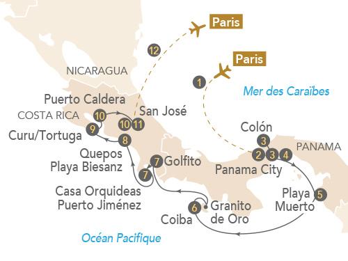 Itinéraire de Panama, Costa Rica avec Échappées Belles